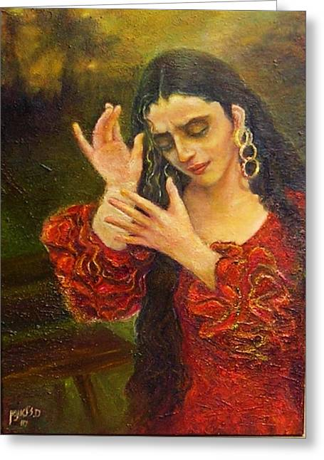 Flamenfo Girl 2 Greeting Card