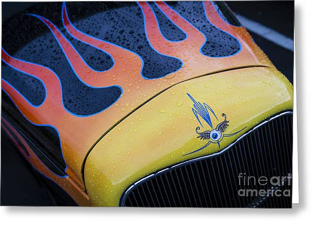 Wet Flames Greeting Card by Dennis Hedberg
