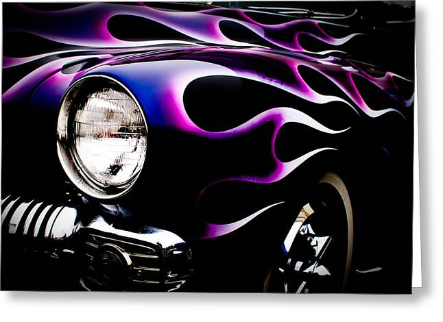 Greeting Card featuring the photograph Flaming Classic by Joann Copeland-Paul