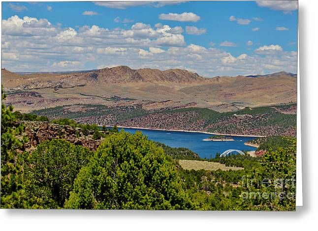 Greeting Card featuring the photograph Flaming Gorge by Janice Rae Pariza