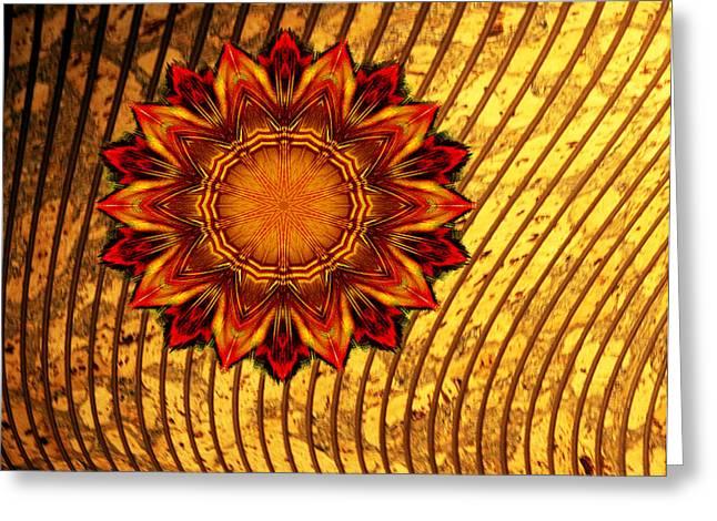 Flaming Star Greeting Card