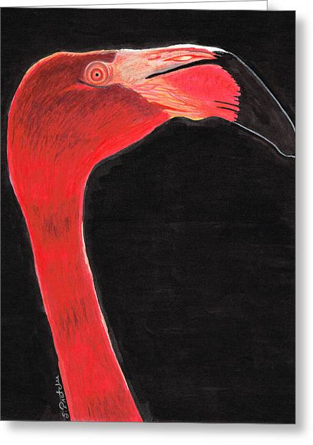 Flamingo Art By Sharon Cummings Greeting Card by Sharon Cummings