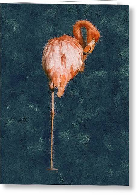 Flamingo - Happened At The Zoo Greeting Card