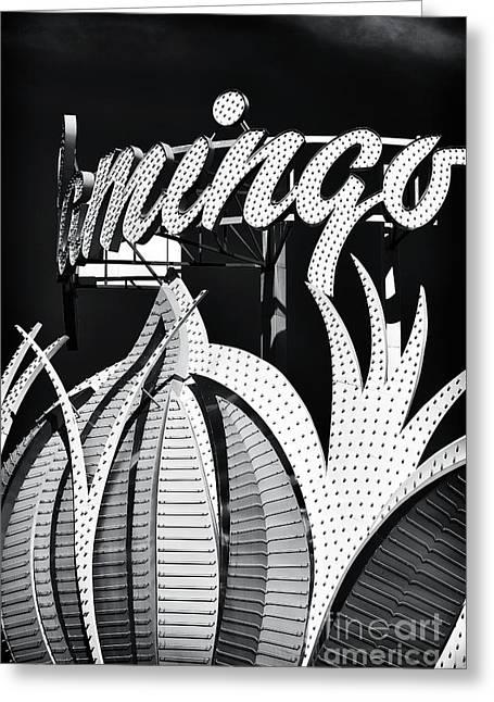 Flamingo Las Vegas Greeting Card by John Rizzuto