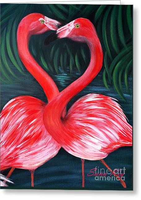 Flamingo Love Card Greeting Card
