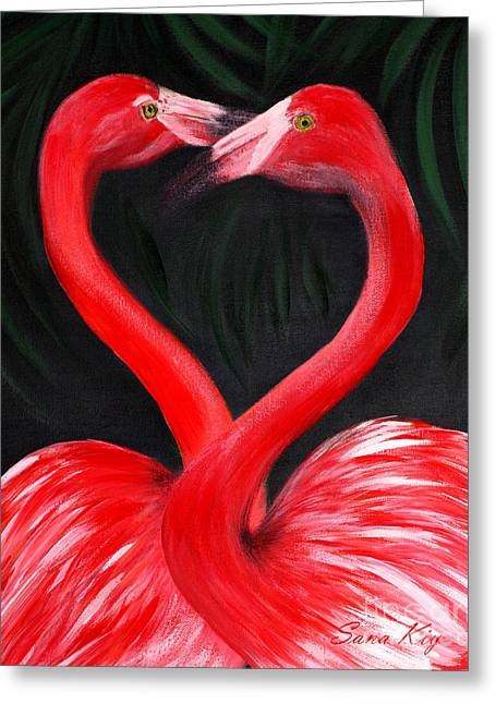 Love  Is... Flamingo Love. Inspirations Collection Greeting Card