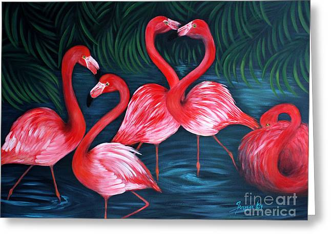 Flamingo Love. Inspirations Collection. Special Greeting Card Greeting Card