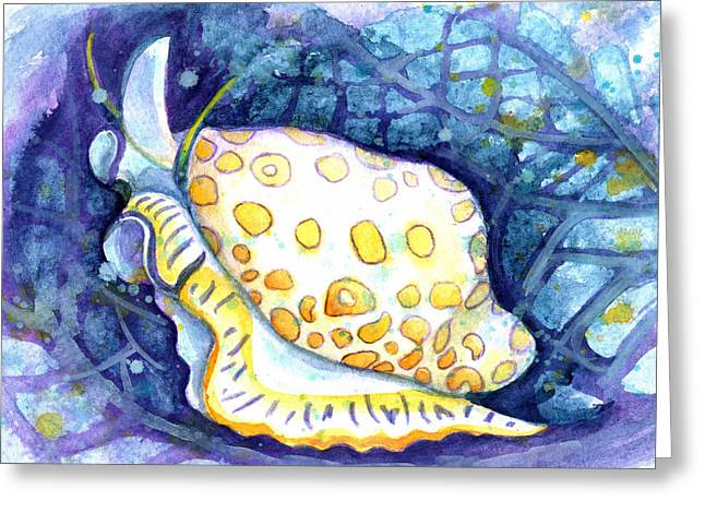 Flamingo Tongue Greeting Card