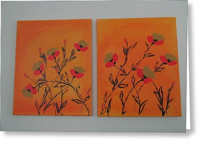 Flanders Poppies Greeting Card by Sharyn Winters