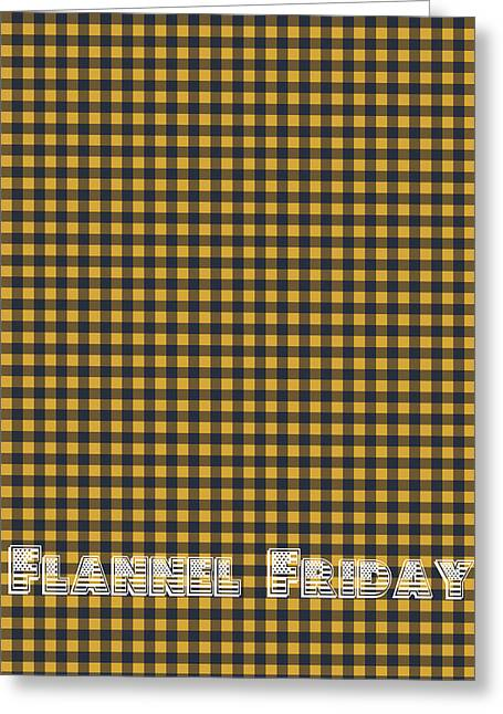 Flannel Friday Greeting Card by Celestial Images