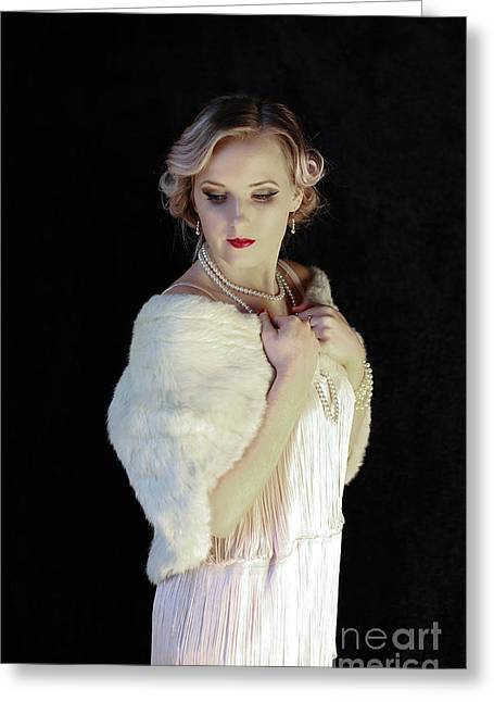 Flapper Girl IIi Color Version Greeting Card