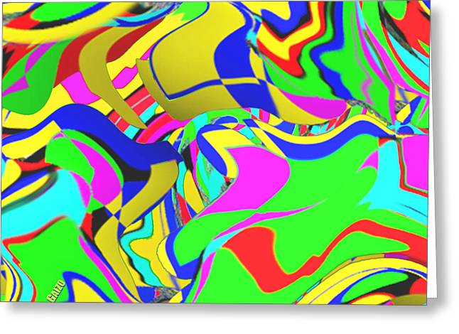 Flarf And Vorticism Greeting Card