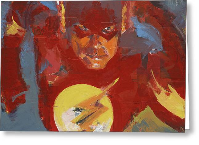 Flash Greeting Card by David Leblanc