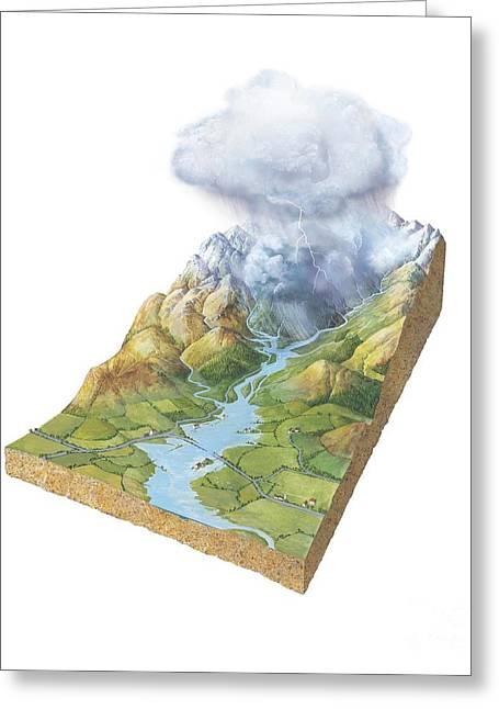 Flash Flooding, Artwork Greeting Card