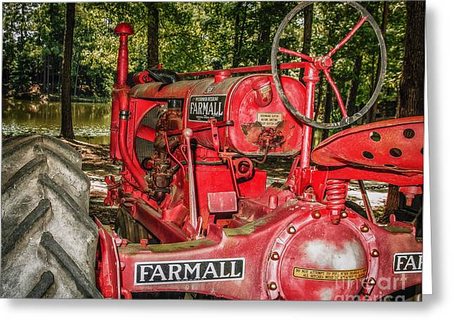 Flash On Farmall Greeting Card by Robert Frederick