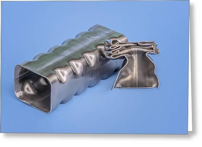 Flashbainite - Maximum Strength Steel - Crush Can V2 Greeting Card by LeeAnn McLaneGoetz McLaneGoetzStudioLLCcom