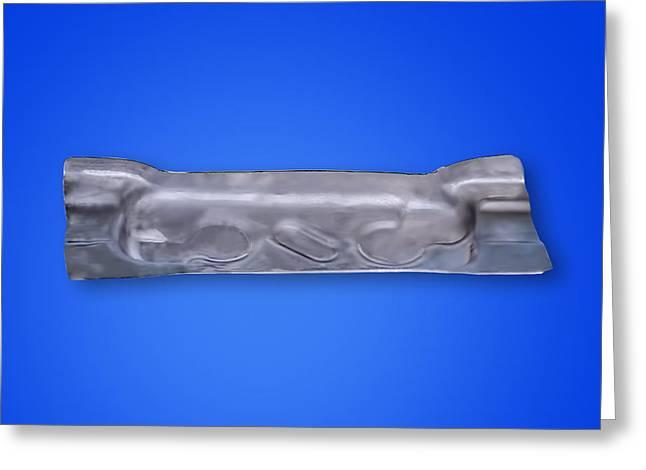 Flashbainite - Maximum Strength Steel -large Bathtub V4 Greeting Card by LeeAnn McLaneGoetz McLaneGoetzStudioLLCcom