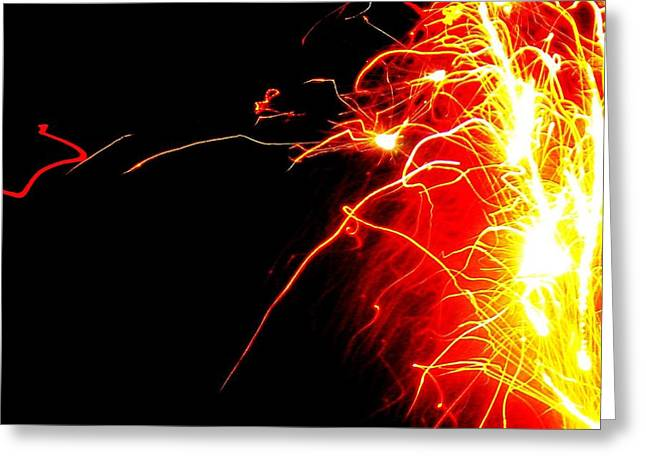 Flashes Of Light Greeting Card by Jose Lopez