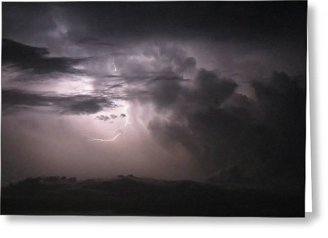 Flashes Of Lightening Greeting Card by Fortunate Findings Shirley Dickerson