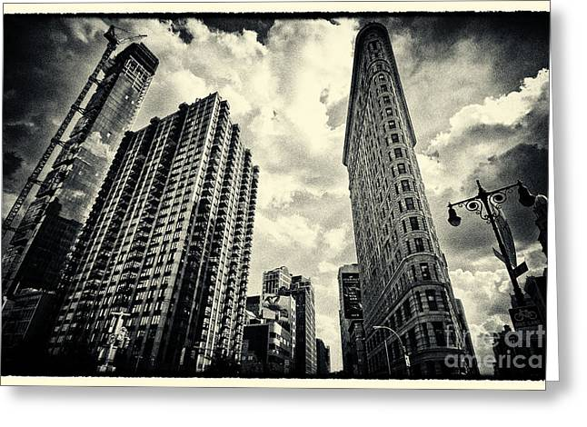 Flat Iron Building New York City Greeting Card by Sabine Jacobs