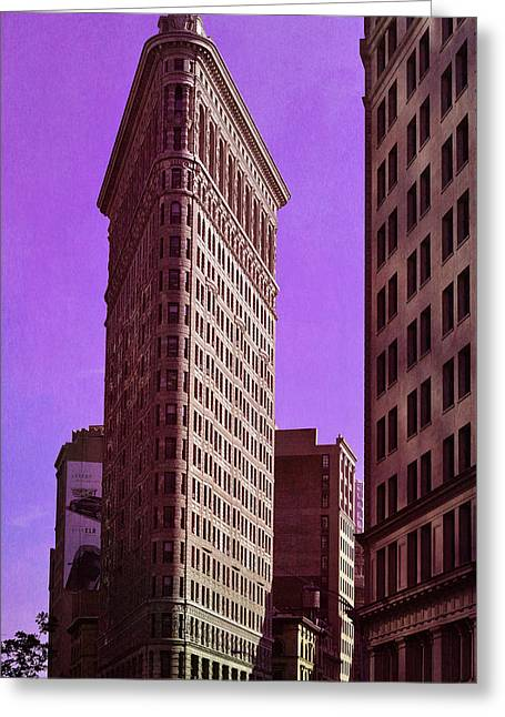 Flat Iron Nyc Greeting Card by Laura Fasulo