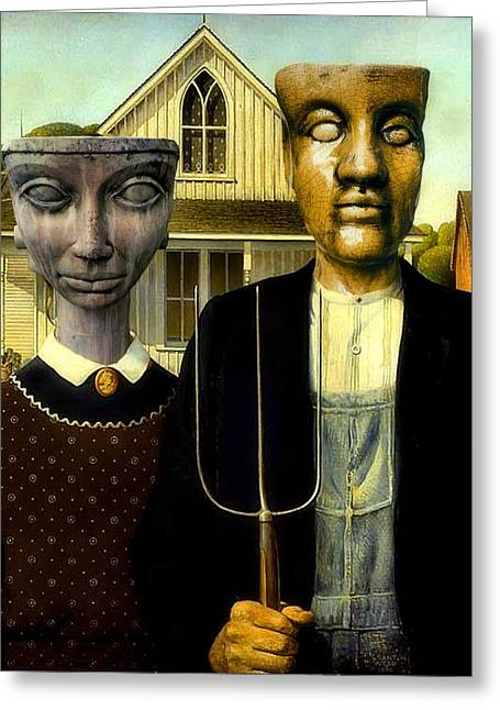 Flat Top Gothic Greeting Card by James Stough