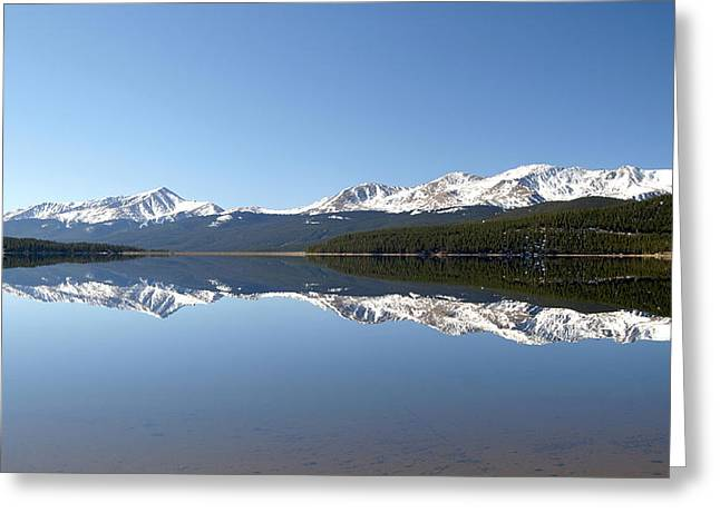 Mt. Massive Greeting Cards - Flat Water Greeting Card by Jeremy Rhoades