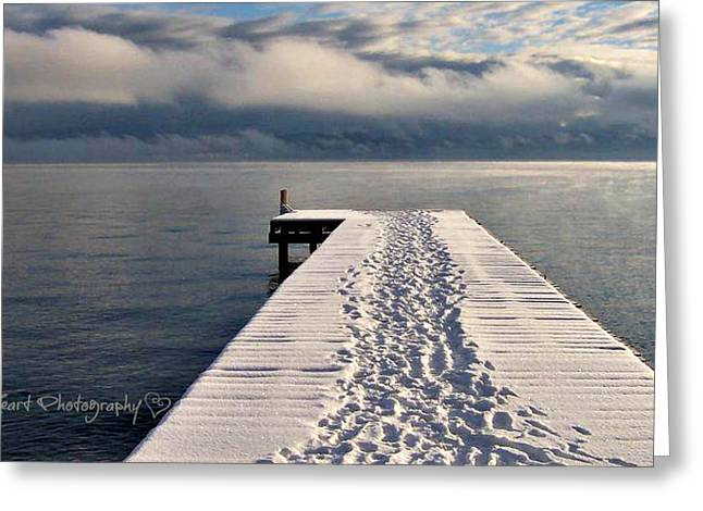 Greeting Card featuring the photograph Flathead Lake by Deahn      Benware