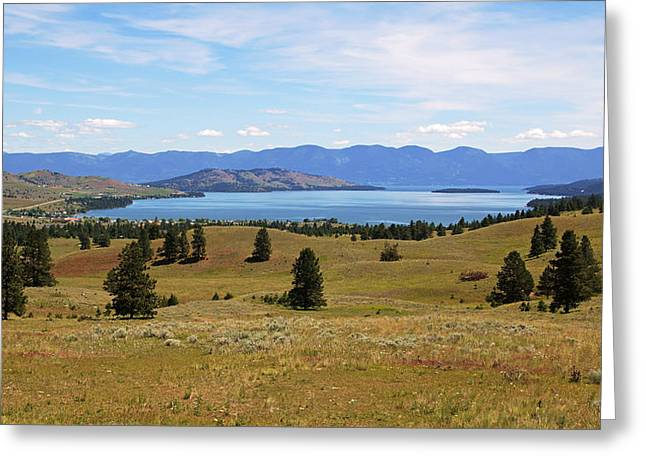 Flathead Lake View Greeting Card