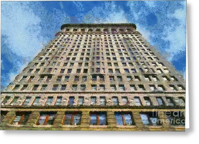 Flatiron Building Greeting Card by George Atsametakis