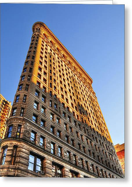 Flatiron Building Profile Too Greeting Card by Randy Aveille