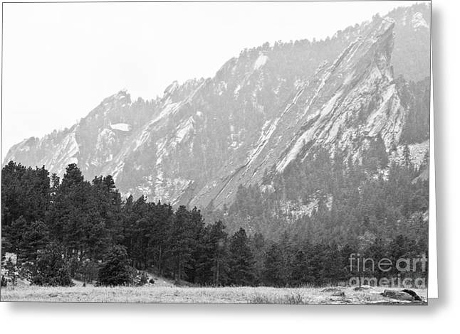 Flatiron In Black And White Boulder Colorado Greeting Card by James BO  Insogna
