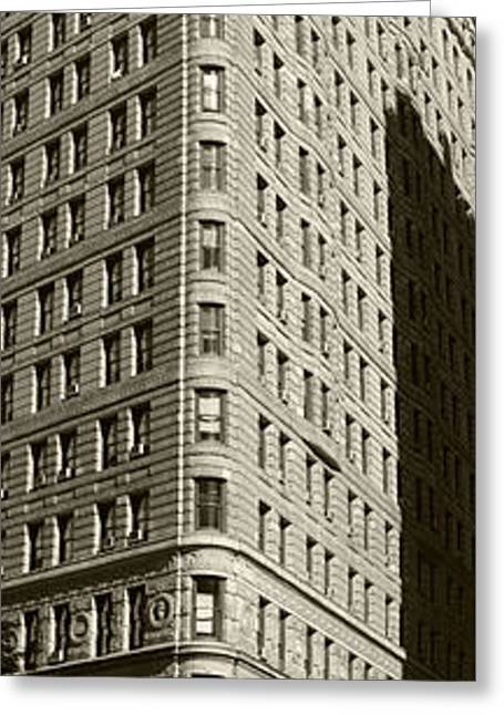 Flatiron In Sepia Greeting Card by David Bearden