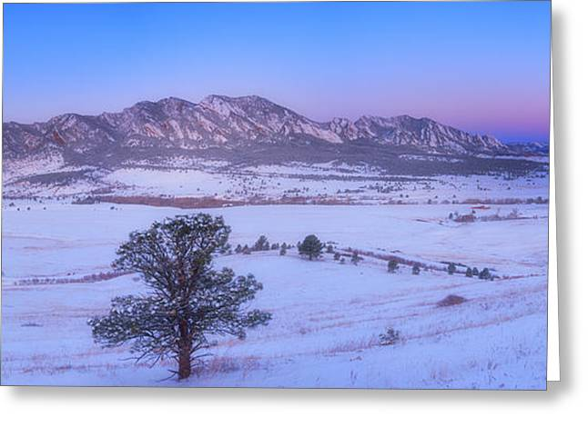 Flatiron Sunrise Greeting Card by Darren  White