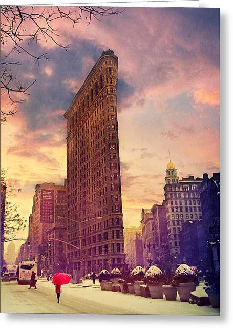 Flatiron Winter Greeting Card by Jessica Jenney
