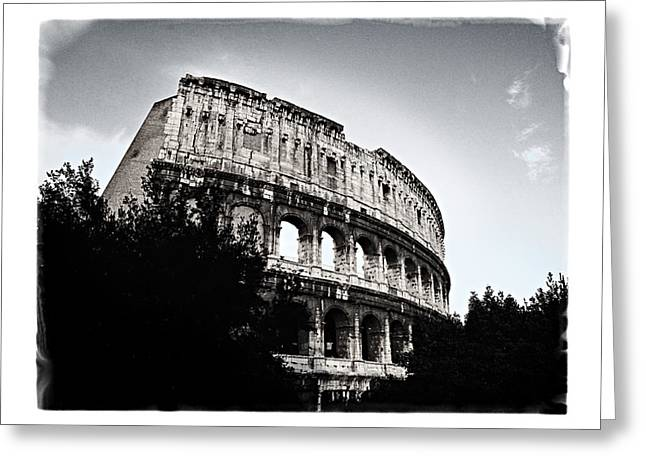 Greeting Card featuring the photograph Flavian Amphitheater by Joe Winkler