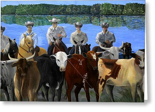 Florida Crackers Mural Greeting Card by David Lee Thompson