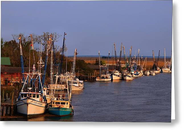 Greeting Card featuring the photograph Fleet's In by Laura Ragland