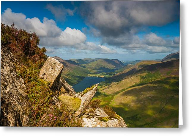 Fleetwith Pike Lake District Greeting Card by David Ross