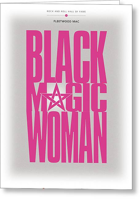 Fleetwood Mac - Black Magic Woman Greeting Card by David Davies