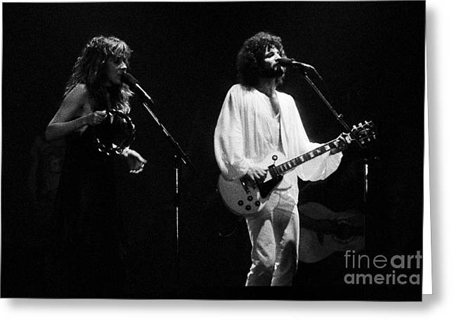 Fleetwood Mac In Amsterdam 1977 Greeting Card