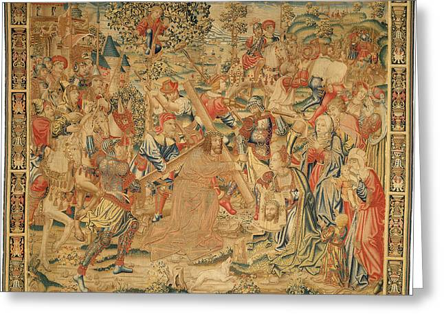 Flemish 16th Century, The Procession To Calvary Greeting Card