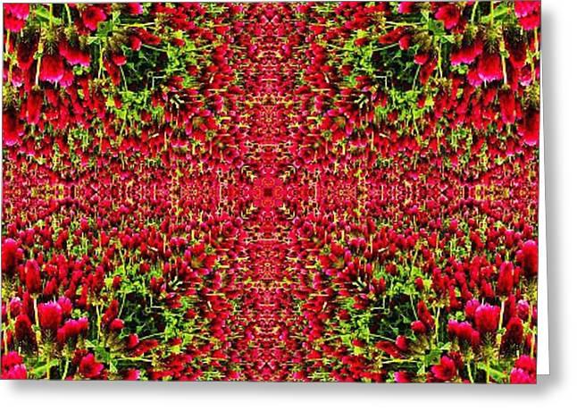 Flemish Tapestry Design Greeting Card