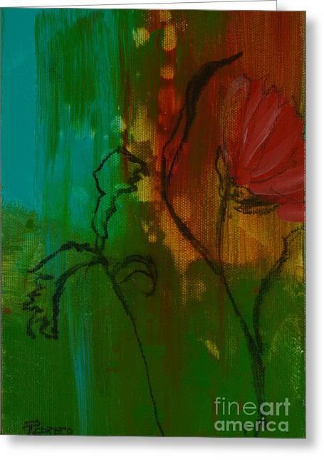 Fleur Greeting Card by Robin Maria Pedrero