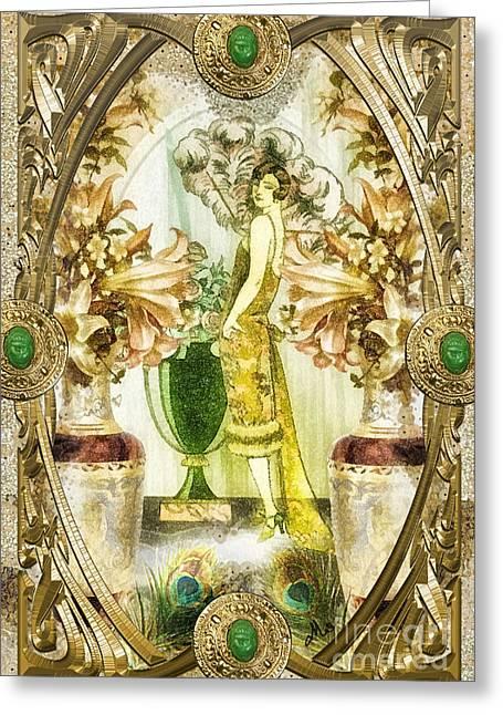 Fleurdelys Greeting Card by Mo T