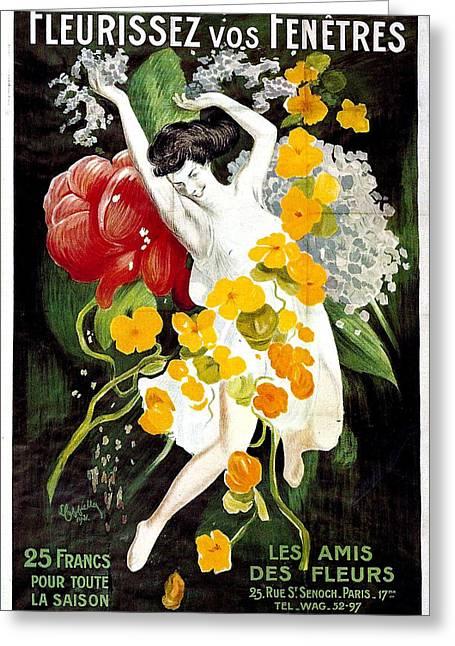 Fleurissez Vos Fenetres  Greeting Card