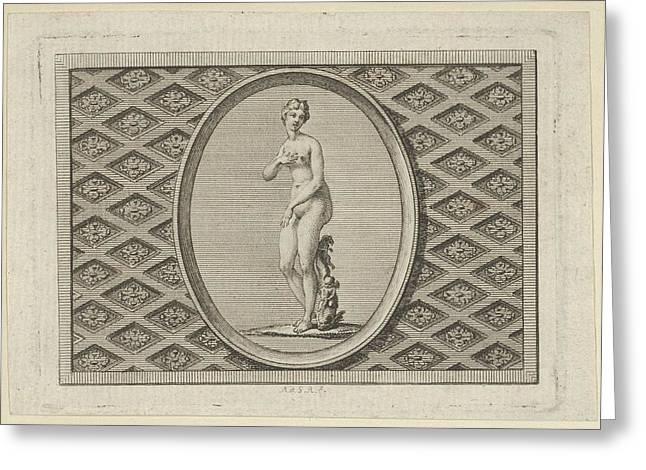 Fleuron On The Title Page Greeting Card by Augustin de Saint-Aubin