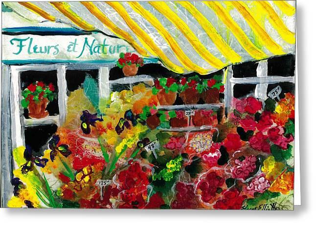 Fleurs Et Nature Greeting Card by Elaine Elliott