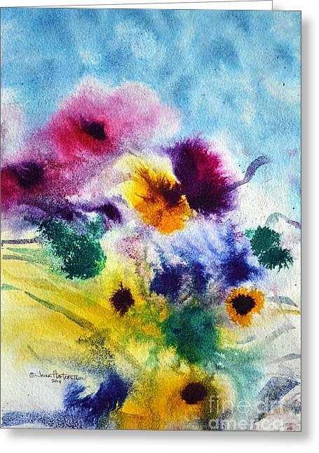 Fleurs Greeting Card by Joan Hartenstein