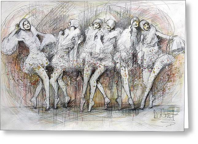 Flight Dancers Greeting Card by Gregory DeGroat